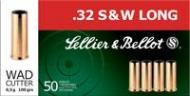 Magtech SB32SWLB SELLIER & BELLOT 32 S&W Long Wad Cutter 100 GR 50Box