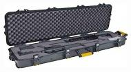 Plano All Weather Double Scoped Rifle Case with Wheels Black with Yellow with pluck Dual stage latches