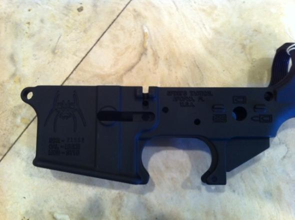 Spikes Tactical Stripped Lower - Spider Logo