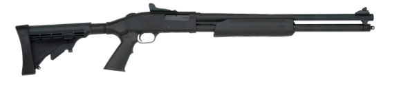 "Mossberg 500 Tactical Pump 20Ga 3"" 18.5"" Matte Black Finish, Collapsible Stock 3"" 6Rd"
