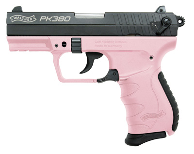 "Walther PK380 Semi-automatic Double Action Compact 380ACP 3.6"" Polymer Blue/Pink 8Rd"
