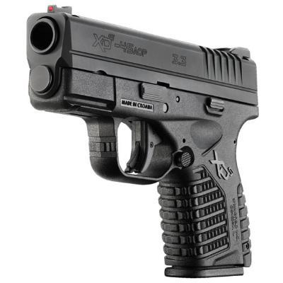"Springfield XD-S .45 ACP Semi Automatic Handgun 3.3"" Barrel 5 Rounds Black XDS93345B"