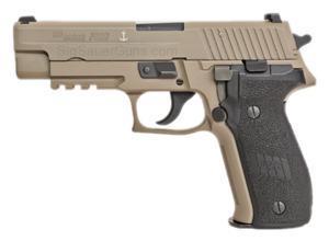 """Sig Sauer MK25D P226 9mm Navy Flat Dark Desert 4.4"""" NS 3-15 Round Blk Poly Grips"""