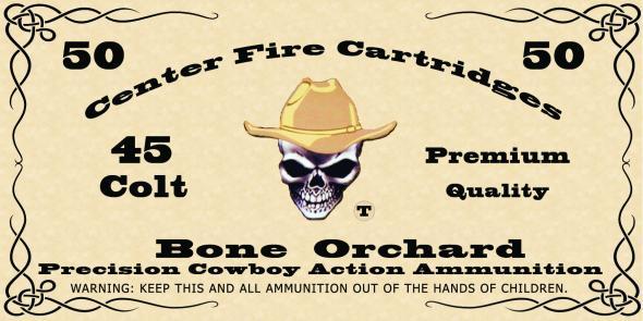Bone Orchard Ammunition Cowboy Action Ammunition 45LC, 200gr RNFP