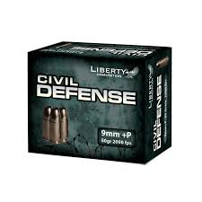 Liberty Ammunition Civil Defense 9MM +P 50 Grain