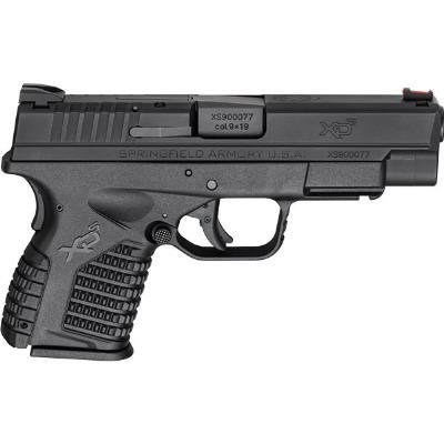 "G-1121, Springfield XDS 4.0"" Single Stack 9mm 4"" 7+1/9+1 Poly Grip/Frame Blk"