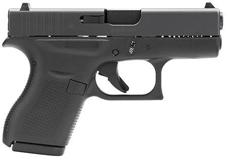 "Glock G42 380 ACP 3.25"" 6+1 FS Modular Poly Grip Black"