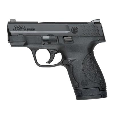 "Smith & Wesson, M&P Shield, Double Action Only, Compact Pistol, 9MM, 3.125"" Barrel, Polymer Frame, Blue Finish, 3 Dot Sights, 6Rd & 7Rd, No Manual Safety, 2 Mags, Fired Case"