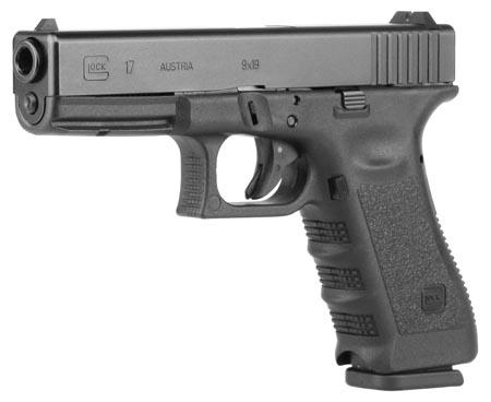 "Glock 17 Full 9MM 4.49"" Polymer Matte 17Rd 2 Mags Threaded Metric M13.5x1LH Fired Case Right Hand AmeriGlo Fixed Sights"