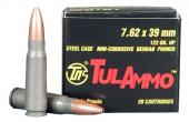 Tulammo UL076202 Centerfire Rifle 7.62X39 122GR Hollow Point 20Bx
