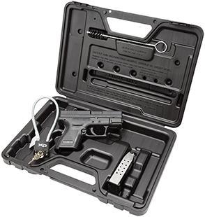 """Springfield XD Essential Pkg 3"""" DAO 9mm 3"""" 13+1 Poly Grip/Frame Blk"""