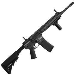 "LWRC MK6 Semi-automatic AR 223 Rem/5.56NATO 16"" (14.7"" with Pinned Brake) Sniper Grey SOPMOD Geissele Trigger Spiral Fluted 30Rd Magpul Backup Flip Sight"