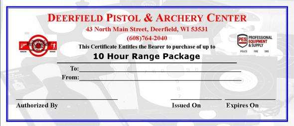 10 Hour Range Time Package