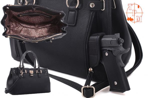 Lock Concealed Carry Satchel Black