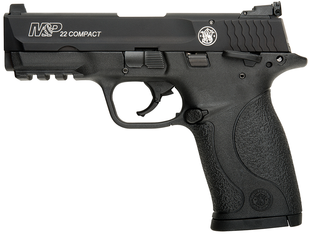"Smith & Wesson 108390 M&P 22 Compact Single 22LR 3.6"" 10+1 TB Blk Poly Grip"