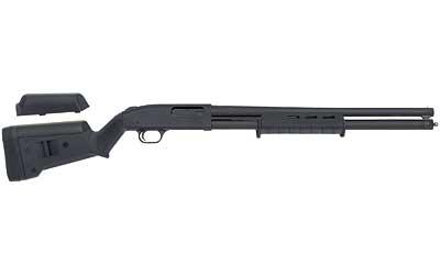 "Mossberg, 500 Magpul Series, Pump Action Shotgun, 12 Gauge,3"" Chamber, 20"" Cylinder Barrel, Parkerized Finish, Magpul SGA Stock and MOE Forend, Bead Sights, 8Rd, Magpul Receiver Sling Plate, 4 Length of Pull Spacers, .25"" Cheek Riser"