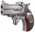 "Bond Arms MINI 45 Colt, 2.5"" Interchangable Barrel, 2 Rounds, Stainless Steel Satin Finish, Rosewood Grips"