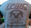 TPM Shirts- Constitution, Grey/Black Letters (Large)