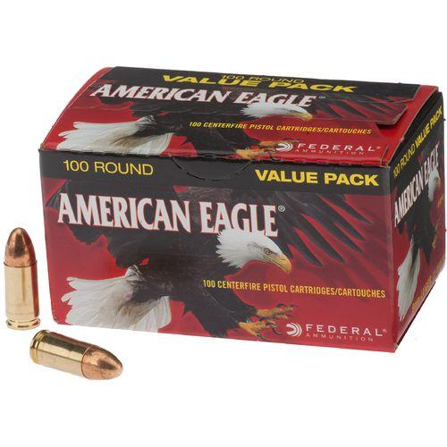 Federal American Eagle 9MM 115 Grain FMJ 500 rounds