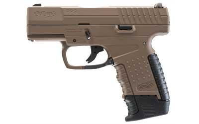 """Walther, PPS, Double Action, Compact, 9MM, 3.2"""" Barrel, Polymer Frame, Flat Dark Earth Cerakote Finish, Fixed Sights, 7Rd, 2 Magazines, 1-7Rd and 1-8Rd"""