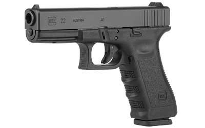 """Glock, 22, Double Action Only, 40S&W, 4.49"""" Barrel, Polymer Frame, Matte Finish, Fixed Sights, 10Rd, Glock OEM Rail, Right Hand"""