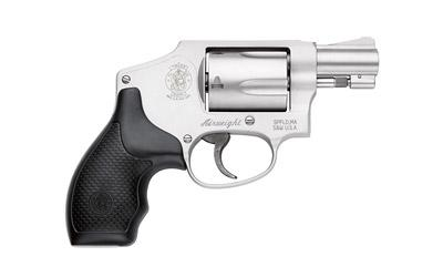 """Smith & Wesson 642, Double Action Only, Small Revolver, 38 Special, 1.875"""" Barrel, Alloy Frame, Stainless Finish, Rubber Grip, Fixed Sights, 5Rd, without Internal Lock 103810"""
