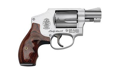 """Smith & Wesson Model 642 LadySmith, Small Revolver, 38 Special, 1.875"""" Barrel, Alloy Frame, Matte Silver Finish, Wood Grip, Fixed Sights, 5Rd, Carry Case, Right Hand 163808"""