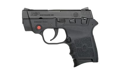 "Smith & Wesson M&P Bodyguard, Double Action Only, Sub Compact Pistol, 380ACP, 2.75"" Barrel, Polymer Frame, Black Finish, Polymer Grips, Adjustable Sights, 6Rd, ThumbSafety, Crimson Trace Laser, 2 Mags 10048"
