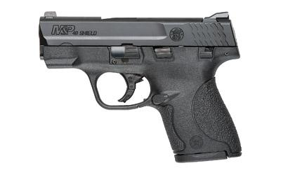 "Smith & Wesson Shield, Double Action Only, Compact, 40 S&W, 3.125"" Barrel, Polymer Frame, Blue Finish, 3 Dot Sight, Thumb Safety, 6 and 7Rd, 2 Magazines 180020"