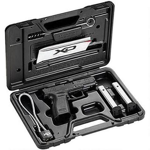 """Springfield Armory XD Sub Compact Semi Automatic Handgun Essentials Package .40 S&W 3"""" Barrel 12 Rounds Black Polymer Frame"""