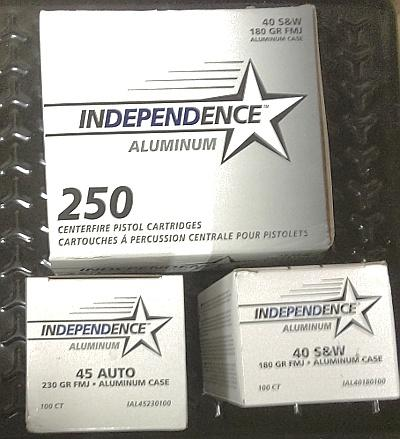 CCI Independence 40SW 250cnt Pack 180 FMJ
