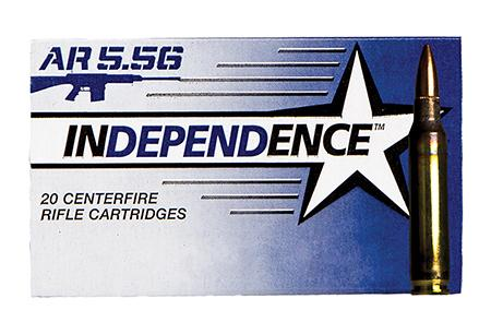INDEPENDENCE 5.56 55 GRAIN FMJ 500 CASE BRASS CASING