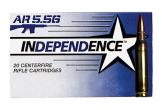 INDEPENDENCE 5.56 55 GRAIN FMJ 500 CASE BRASS CASING