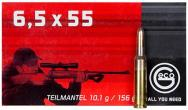 GECO 281540020 6.5x55 Swedish Mauser Express Tip 156 GR 20 Box/10Case