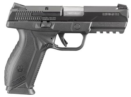 "Ruger American Pistol, Single/Double Action, 9mm, Capacity 17+1, 4.2"" Barrel, Black Finish"