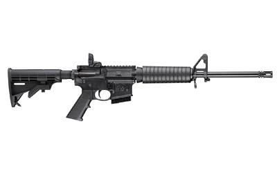 "Smith & Wesson, M&P 15 Sport II, Semi-automatic Rifle, AR-15, 556NATO, 16"" Barrel, Black Finish, 6 Position Collapsible Stock, 1 Mag, 10Rd, Bullet Button, Flip Up Rear Sight"
