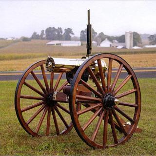 Colt Gatling Gun, 1877 BULLDOG, 10 Barrel, Carriage