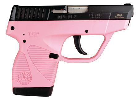 "Taurus Model 738 TCP 380 ACP 2.84"" 6+1 Pink Poly Grip Blued Finish"