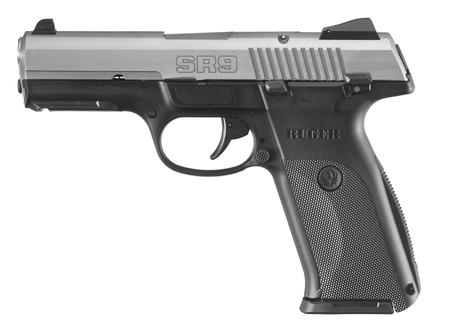 "Ruger SR9 Stainless 9mm 4"" 17 Round Polymer Frame/Stainless Steel"