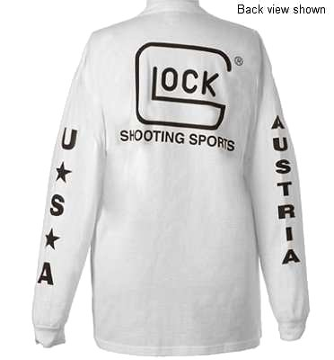 Glock T-Shirt Long Sleeve White XXX-Large Cotton