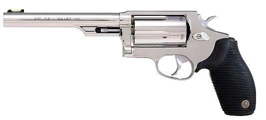 "Taurus Judge 410/45LC 6.5"" 5rd FO Sight Ribber Grip Overlay Matte SS"