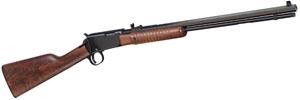 "Henry Pump Octagon Pump 22 Long Rifle 20"" 15+1 American Walnut Stk Blue"