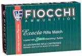 Fiocchi Exacta 308 Win (7.62 NATO) Sierra MatchKing BTHP 168 Grain 20 Box