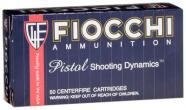Fiocchi Pistol Shooting 9mm Full Metal Jacket 115 GR 50Box