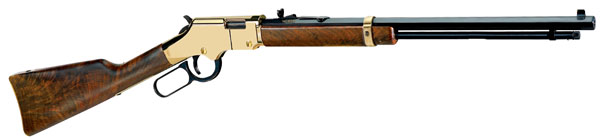 "Henry H004 Goldenboy Standard Lever 22 LR 20"" 16+1 American Walnut Stk Blue"