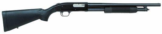 "Mossberg 500 Pump 12 Gauge 18.5"" Barrel 3"" Chamber Black Synthetic Blue Finish"