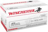 Winchester Ammo USA 45 ACP Full Metal Jacket 230 GR 100Box