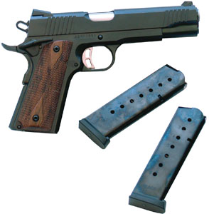 "Citadel M-1911 Full Size 45 ACP 5"" 8+1 Checkered Wood Grip Blue"