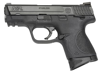 """Smith & Wesson M&P Compact 9mm 3.5"""" 12+1 Syn Grip Ambi Safety Black Finish"""