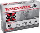 """Winchester Super X Buffered 12 ga 3"""" 15 Pellets 00 Buck Shot 15Box"""